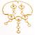 Gold Hammered Circle Drop Set - view 2