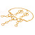 Gold Hammered Circle Drop Set - view 8