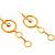 Gold Hammered Circle Drop Set - view 3