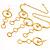 Gold Hammered Circle Drop Set - view 4