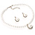 Silver Tone Glass Pearl Costume Jewellry Set - view 8