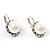 Silver Tone Glass Pearl Costume Jewellry Set - view 6