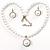 Silver Tone Glass Pearl Costume Jewellry Set - view 7