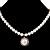 Silver Tone Glass Pearl Costume Jewellry Set - view 3