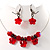 Stunning Hot Red Bead Set