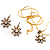 Antique Gold Clear Crystal Daisy Costume Set