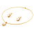 Classic Gold Tone Faux Pearl costume Set - view 2