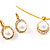 Classic Gold Tone Faux Pearl costume Set - view 3