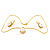 Classic Gold Tone Faux Pearl costume Set - view 4