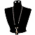 Ethnic Wooden Pendant Long Fashion Jewellery Set - view 9
