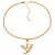 Gold Plated Clear Crystal Dragon Costume Jewellery Set - view 8