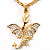Gold Plated Clear Crystal Dragon Costume Jewellery Set - view 6