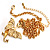 Gold Plated Clear Crystal Dragon Costume Jewellery Set - view 4