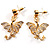 Gold Plated Clear Crystal Dragon Costume Jewellery Set - view 10