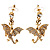 Gold Plated Clear Crystal Dragon Costume Jewellery Set - view 3
