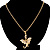 Gold Plated Clear Crystal Dragon Costume Jewellery Set - view 7