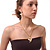 Gold Plated Clear Crystal Dragon Costume Jewellery Set - view 2