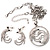 Rhodium Plated Clear Crystal Firebird Costume Jewellery Set