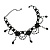 Black Gothic Fashion Necklace And Earring Set - view 5