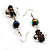 Black Glass Heart Fashion Necklace & Earrings - view 10