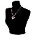 Black Glass Heart Fashion Necklace & Earrings - view 4