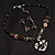 Black Glass Heart Fashion Necklace & Earrings - view 12