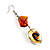 Fish Fin Glass Pendant & Earrings Set (Citrine & Amber Coloured) - view 16
