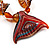 Fish Fin Glass Pendant & Earrings Set (Citrine & Amber Coloured) - view 4