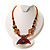 Fish Fin Glass Pendant & Earrings Set (Citrine & Amber Coloured) - view 5