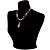 Romantic Pink Teardrop Pendant & Earrings Glass Fashion Set - view 8