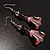 Romantic Pink Teardrop Pendant & Earrings Glass Fashion Set - view 17