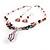 Romantic Pink Teardrop Pendant & Earrings Glass Fashion Set - view 10