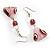 Romantic Pink Teardrop Pendant & Earrings Glass Fashion Set - view 7