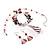 Romantic Pink Teardrop Pendant & Earrings Glass Fashion Set - view 6
