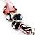 Romantic Pink Teardrop Pendant & Earrings Glass Fashion Set - view 16