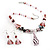 Romantic Pink Teardrop Pendant & Earrings Glass Fashion Set - view 2