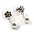 Imitation Pearl Crystal Floral Choker And Earring Set (Snow White&Clear) - view 11