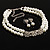 Imitation Pearl Crystal Floral Choker And Earring Set (Snow White&Clear) - view 1
