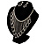 Divine Extravagance Swarovski Crystal Bib Necklace And Dangle Earring Set (Silver Tone) - view 15