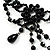 Black Gothic Costume Choker Necklace And Earring Set - view 7