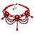 Hot Red Gothic Costume Choker Necklace And Earring Set - view 8