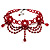 Hot Red Gothic Costume Choker Necklace And Earring Set - view 6