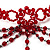 Hot Red Gothic Costume Choker Necklace And Earring Set - view 4