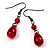 Hot Red Gothic Costume Choker Necklace And Earring Set - view 5