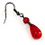 Hot Red Gothic Costume Choker Necklace And Earring Set - view 11