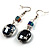 Black Glass & Semiprecious Bead Necklace & Earring Set - view 6
