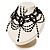 Chic Victorian/ Gothic/ Burlesque Black Bead Choker And Earrings Set - view 9