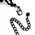 Chic Victorian/ Gothic/ Burlesque Black Bead Choker And Earrings Set - view 8