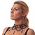 Chic Victorian/ Gothic/ Burlesque Black Bead Choker And Earrings Set - view 13
