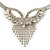 Swarovski Crystal Modern Appeal Bib Necklace and Earrings Set (Silver Tone) - view 11